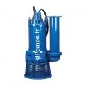 Pompe de Relevage Fonte Tsurumi GSZ-75-4L de 250 à 1050 m3/h entre 38 et 9 m HMT Tri 400 V 75 kW