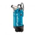 Pompe de Relevage Fonte Tsurumi KTZE33.7 avec Sonde de Niveau de 5 à 53 m3/h entre 28 et 3 m HMT Tri 400 V 3,7 kW