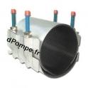 Collier de Réparation 2 Pièces Inox 304 pour Tube Ø 133 à 156 mm Longueur 200 mm