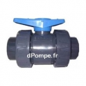 Vanne PVC Pression à Bille Femelle Femelle à Coller Double Union ORION Ø 50