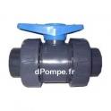 Vanne PVC Pression à Bille Femelle Femelle à Coller Double Union ORION Ø 63