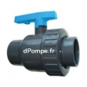 Vanne PVC Pression à Bille Femelle Femelle à Coller Simple Union Ø 20