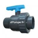 Vanne PVC Pression à Bille Femelle Femelle à Coller Simple Union Ø 50