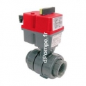 Vanne PVC Pression à Bille Motorisation Électrique Femelle à Coller Ø 20