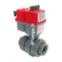 Vanne PVC Pression à Bille Motorisation Électrique Femelle à Coller Ø 25
