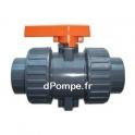 Vanne PVC Pression Femelle à Coller Double Union avec Joints FPM Ø 50