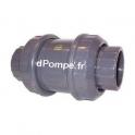 Clapet à Ressort PVC Pression Femelle à Coller Joints EPDM Ø 40