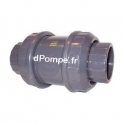 Clapet à Ressort PVC Pression Femelle à Coller Joints EPDM Ø 90