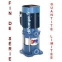 Destockage Pompe de Surface Pedrollo Multicellulaire Verticale MKm 5/5 de 1,2 à 7,2 m3/h entre 64 et 29 m HMT Mono 220/230 V 1,5