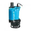 Pompe d'Épuisement Fonte Tsurumi KRS-200 de 20 à 250 m3/h entre 30 et 5 m HMT Tri 400 V 18 kW