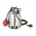 Pompe de Relevage Inox a Roue Vortex GXVM 25-8 Calpeda 3 a 12 m3/h entre 7,2 et 2,2 m HMT MONO 230 V 0,37 kW