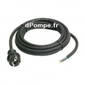 Fiche Mâle avec 3 m de câble 3 x 1,5 mm2