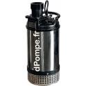 Pompe de Chantier Calpeda KPM 50.15T de 1,8 à 28,8 m3/h entre 22 et 4 m HMT Tri 400 V 1,1 kW