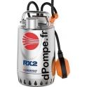 Pompe de Drainage Pedrollo RXm 2 de 3,6 à 13,2 m3/h entre 8 et 2 m HMT Mono 220/240 V 0,37 kW