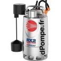 Pompe de Drainage Pedrollo RXm 2/20 Vortex GM de 3,6 à 10,8 m3/h entre 5,4 et 2 m HMT Mono 220/240 V 0,37 kW