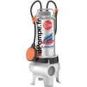 Pompe de Relevage Pedrollo Tout Inox 304 Massif VX 10/35-MF de 6 à 24 m3/h entre 9,4 et 2 m HMT Tri 400 V 0,75 kW