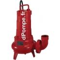 Pompe de Relevage Vortex Pedrollo FL 104 tri V de 3,6 à 25,2 m3/h entre 6,2 et 1,8 m HMT Tri 400 V 0,75 kW