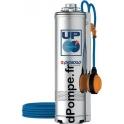 Pompe Immergée Pedrollo pour Puits UPm 4/4 GE avec Flotteur de 2,4 à 7,2 m3/h entre 49 et 16 m HMT Mono 220 240 V 0,75 kW