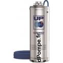 Pompe Immergée Pedrollo pour Puits UP 4/6 de 2,4 à 7,2 m3/h entre 74 et 24 m HMT Tri 400 V 1,5 kW