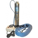 Pompe Pedrollo Immergée FORAPACK T210/15 de 0,6 à 3,6 m3/h entre 68 et 20 m HMT Tri 400 V 0,55 kW avec 15 m de Câble Alimentaire
