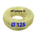 Tuyau d'Aspiration Annelé pour Motopompe Ø 125 mm intérieur - Vendu par multiple de 5 mètres