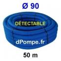 Gaine Bleue Détectable pour Tuyau d'Eau Ø 90 mm Couronne de 50 mètres