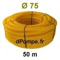 Gaine Jaune pour Conduite de Gaz Ø 75 mm Couronne de 50 mètres