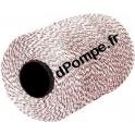 Fil d'Aiguilletage Rouge/Blanc Polyamide Haute Résistance 175 kg Longueur 2500 mètres
