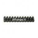 Barette Domino de Connexion Noire 2,5 mm
