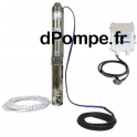 Pompe Immergée Calpeda 4SDFM 36-8 E15 ECO de 0,6 à 4,8 m3/h entre 45,6 et 13,2 m HMT Mono 230 V 0,55 kW avec Coffret et 15 m de
