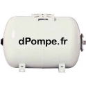 Réservoir à Vessie Horizontal Calpeda RV+ 100H10 Acier Peint 100 litres 10 bars Contre-Bride Inox 304 - dPompe.fr