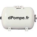Réservoir à Vessie Horizontal Calpeda RV+ 50H10 Acier Peint 50 litres 10 bars Contre-Bride Inox 304 - dPompe.fr