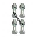 Kit Visserie Inox 4 vis 14 x 50 avec 4 écrous  - dPompe.fr