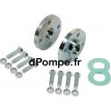 Kit Brides DN 80 PN 40 pour pompe NKV - dPompe.fr